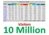 send 10 Million Website Visitors Traffic to your site