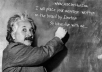 place ur message or slogan written on the board by Einstein 