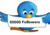 add 50k twitter followers in your account within 1 day