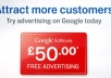 provide 4 x &pound;50 Adwords voucher 