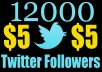 Increase 12,000 Real Looking Twitter Followers to Your Account Just Within 12hr Without Password