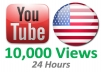 give you 10,000 USA YouTube Video Views In 24 Hours