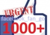 give you quality 1000+ USA facebook fans likes to your fb fan page, average express delivery in less than 6hr