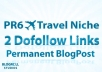 give you a PR6 Travel Niche Guest Post with 2 dofollow niche related seo blogpost links for