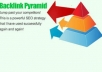 create a powerfull 2500 DOFOLLOW forum post pyramid backlink