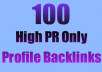 get you 100+ pr4 pr5 pr6 pr7 pr8 Links to any url High pr web profile Backlinks Beat the new google penguin update top seo gig 