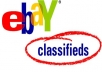 LIST your 10 ads on HIGH PR website- ebayclassifieds