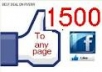  give you 1500 verified facebook fan page like for new fan page 