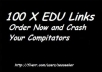 build Google Panda and Penguin Friendly Quality 100 x edu backlinks