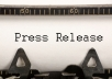 write a Press Release