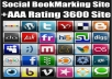 Give You AAA+ Rating 3600 Social BookMarking Site List to Get Your Site Ranking on Google First Page