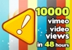 give 10,000+ Vimeo video views in 24 Hours