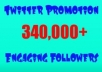 promote anything you want to my 340,000 + engaging Twitter followers