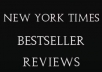 write a NYT Bestselling book review and link your book to the review to give it the same exposure 