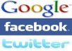  advertise Your Product or Link to  250000+ Twitter Followers  1000+ Facebook Friends  2600+ Google Plus Friends 2000+ Linked Connection