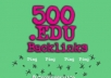 create 500 EDU links for your website, edu links for any type of url through blog comments 