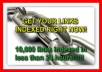 get 10,000 Of Your Backlinks Indexed, Ping, RSS, Link Indexing Services
