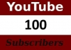 provide 100% real 100 youtube subscribers