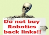 submit your website/blog to 500 high PR directories manually, here is no Robot!