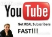get you 100 youtube subscribers, real and human subscriber