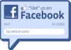 give you 200 real facebook like only for