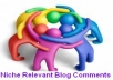 Make Manually 5 Pr1+ Niche Relevant Blog Comment Penguin Panda Safe