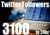 Get You 3100+ Real Looking TWITTER Followers in Less Then 24hr NO Need for Pass