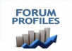 Create 200+ PR1-PR8 Forum Profile Backlinks and Ping all