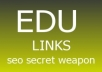 create extra powerful link wheel with 7 EDU Wiki properties with 2000 w i k i backlinks point to them