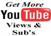 give you ⇨ 2000+ REAL YouTube views +50 Subscribers +50 Likes +50 Favorites ⇨ [Real People No Bots]
