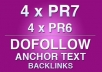 give You 4 DoFollow PR7 + 4 x PR6 Backlinks As A Bonus