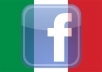 Provide 1000 ITALIAN GEO TARGETED FACEBOOK likes Like Fans Fan on Fanpage - Real Human