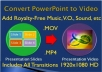 Convert PowerPoint Slideshow Presentation into HD Video w/ Original Transitions, FX, Sounds, and Animations
