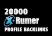 create Xrumer Backlinks 20,000, 30,000, 40,000, 50 000, 100 000 Links Verified Profile Back links