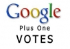 provide you 30 verified google+ vote on your website or blog only