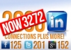 give you 3272 real LinkedIn contacts, 201 Twitter, 125 Facebook and 152 Google+ invites to help build your social network