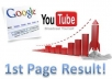 teach you the best ways to rank Youtube videos on Google 1st Page Fast and Long Term