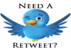 give 500 real  account retweets your message to over 121,100 followers on twitte