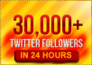 I will add 30,000+ real looking twitter followers to your account in less than 24 hours 
