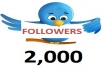 give you 100% real 2000 twitter followers