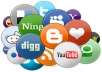 Manually submit your website link on 10 Social bookmark excellent PR site. And I will provide you complete submission report