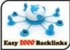 create Your Website 2000 BACKLINKS, Links for Seo Power and Ranking High In Google + Other Search Engines