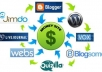make 50 web 20 properties + 5000 social bookmarks linking juice