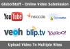 manually upload your video to Top 25+ Video sharing sites ★ Google Penguin Safe ★ to PR9 to PR6 High authority