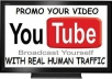give your YouTube Video Over 20000 Unique Human Views within 3 days