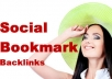 create 10 Backlinks in High PR7 to PR9 Social Bookmarking Sites