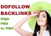 create 22 DoFollow Backlinks from High PR4 to PR9 Websites