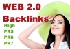 create 10 Web 2 Backlinks from High PR5 to PR Sites7