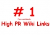 create 1505+ Contextual BACKLINKS from 500+ unique high pr wiki sites