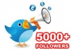 Add TWITTER follower 5000, 4000, 3000, 2000, 1000 or 5k, 4k, 3k, 2k, 1k without password